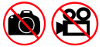 THE USE OF CAMERAS OR VIDEO EQUIPMENT IS PROHIBITED